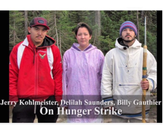 Jerry Kohlmeister, Delilah Saunders, and Billy Gauthier went on hunger strike to get the provincial and federal governments to require that the flooding be done in a safer way.