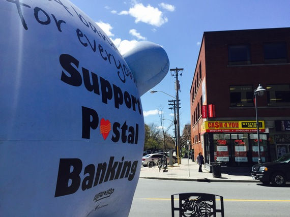 A rally for postal banking in Ottawa, May 5, 2016