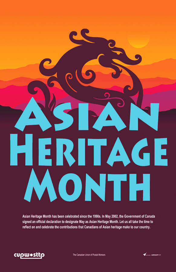 Poster: May is Asian Heritage Month