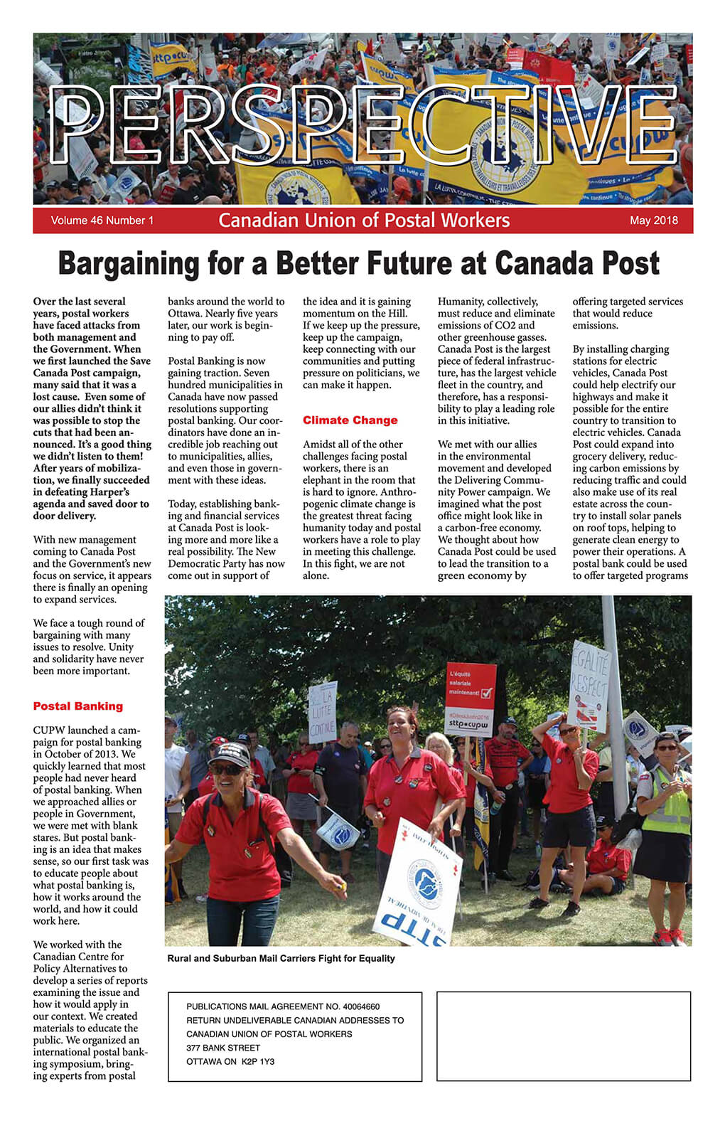 CUPW Perspective (May 2018)