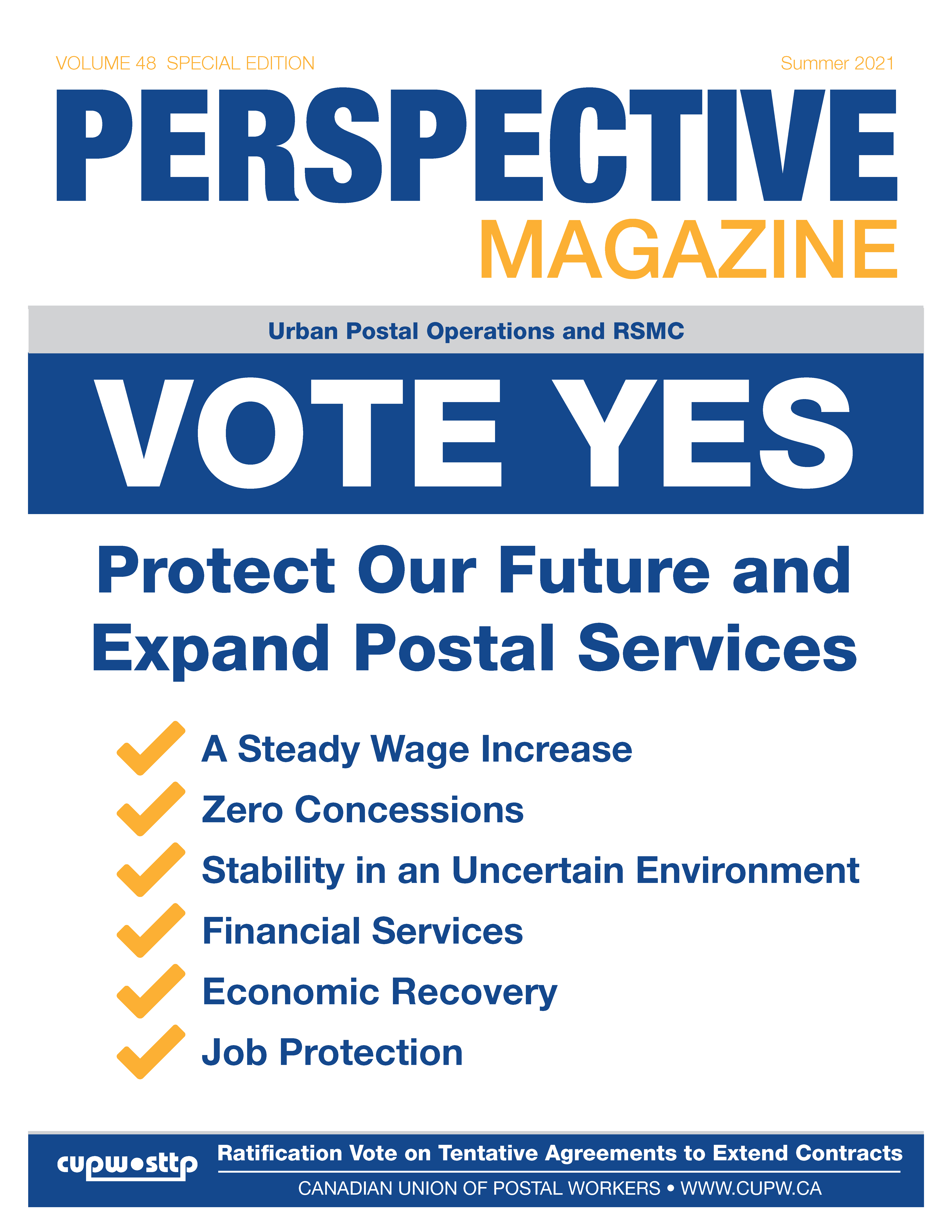 Ratification Tabloid: Vote YES to Protect Our Future and Expand Postal Services