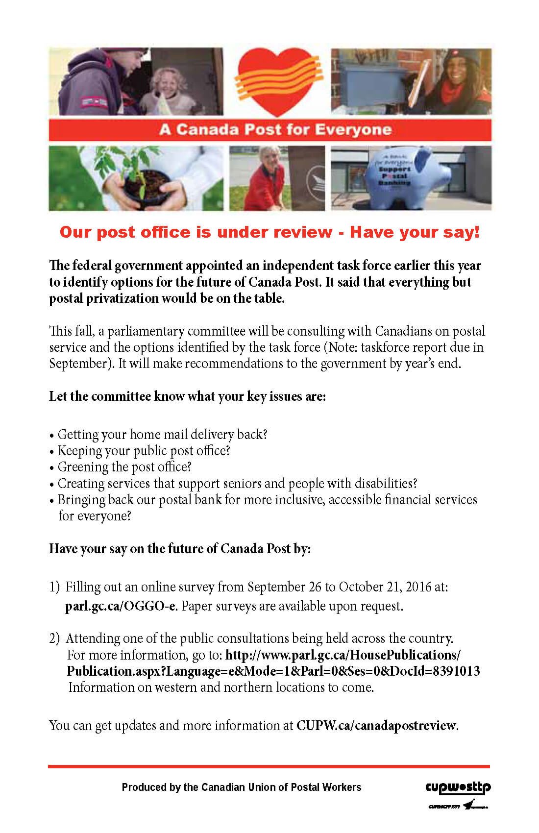 Our post office is under review - Have your say!