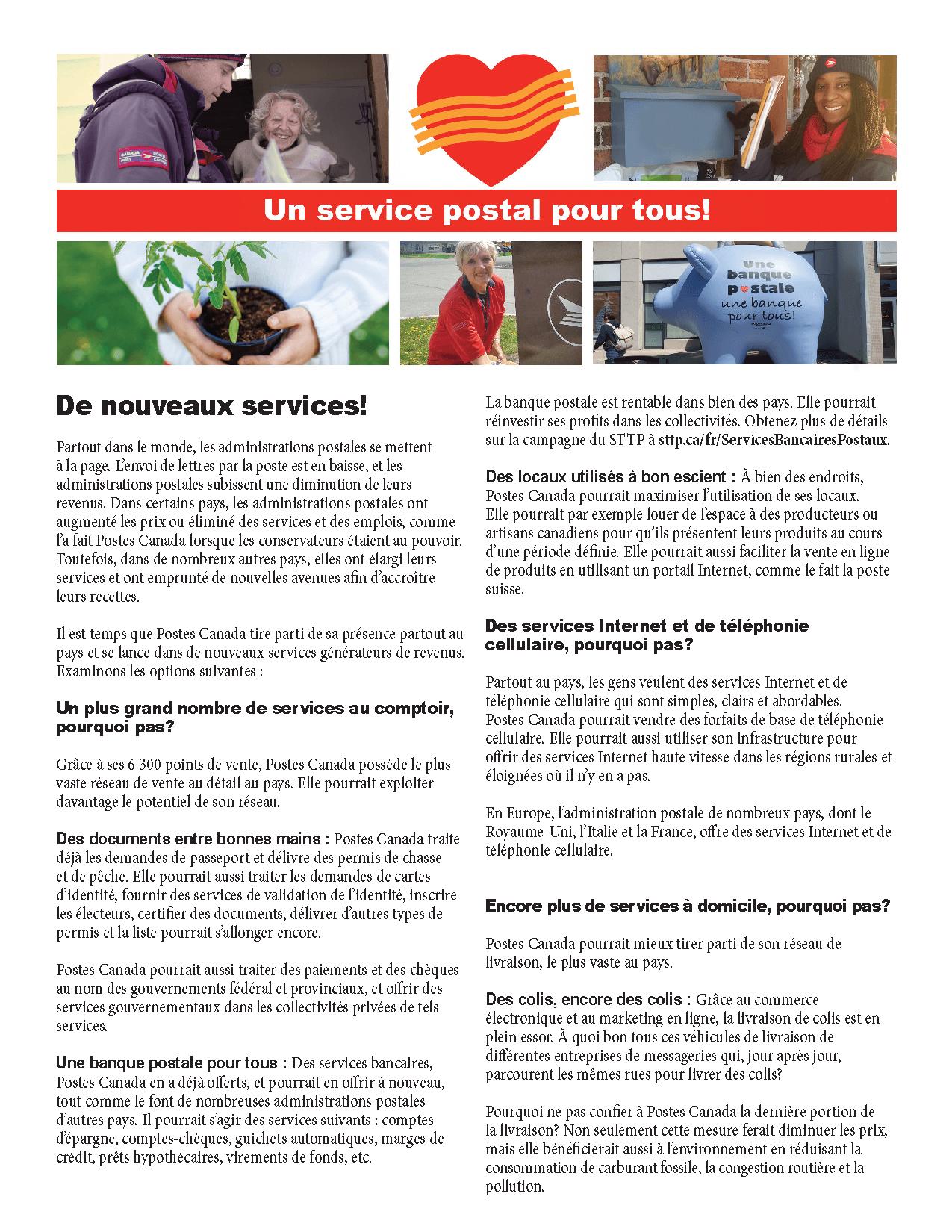 Il est temps que Postes Canada tire parti de sa présence partout au pays et se lance dans de nouveaux services générateurs de revenus.