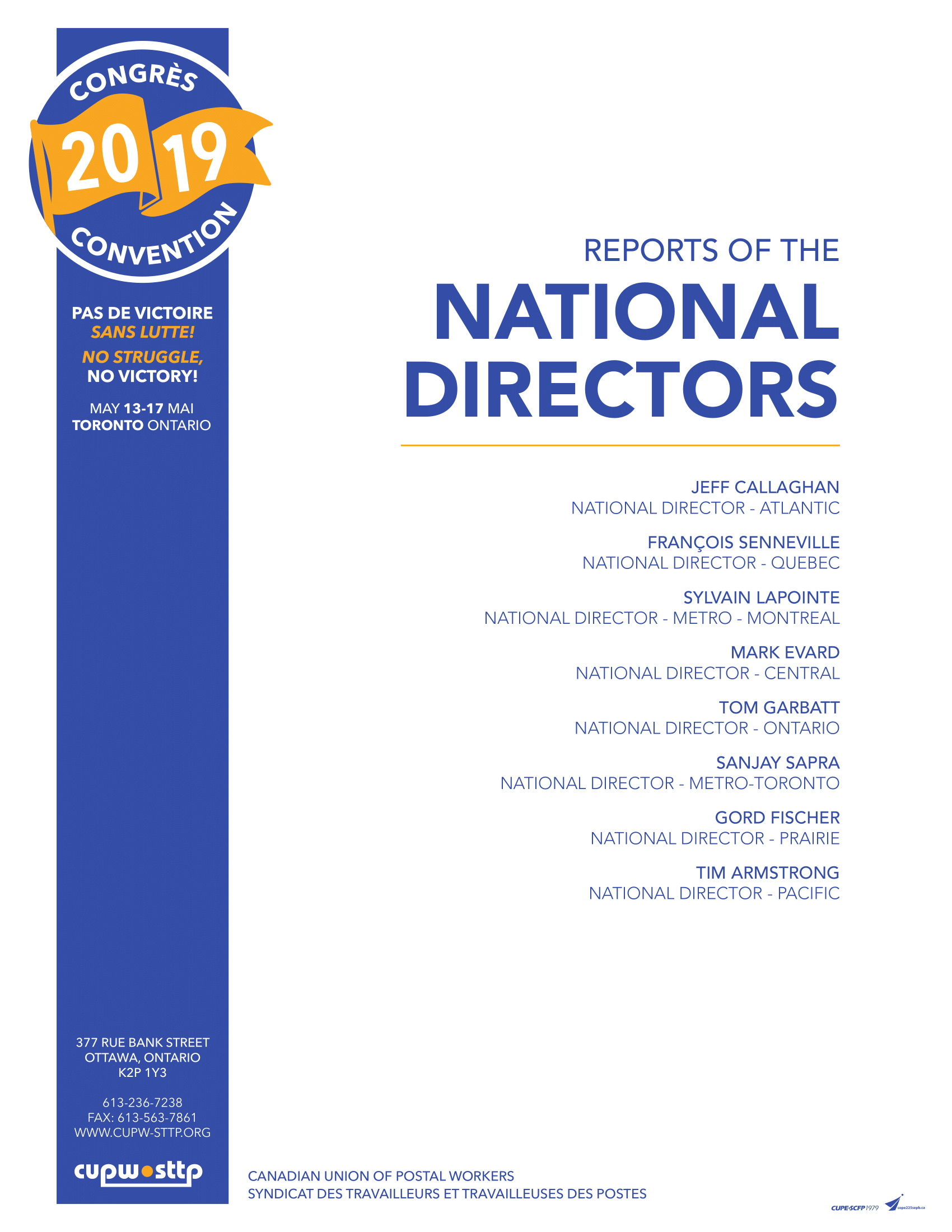 Reports of the National Directors (2019)