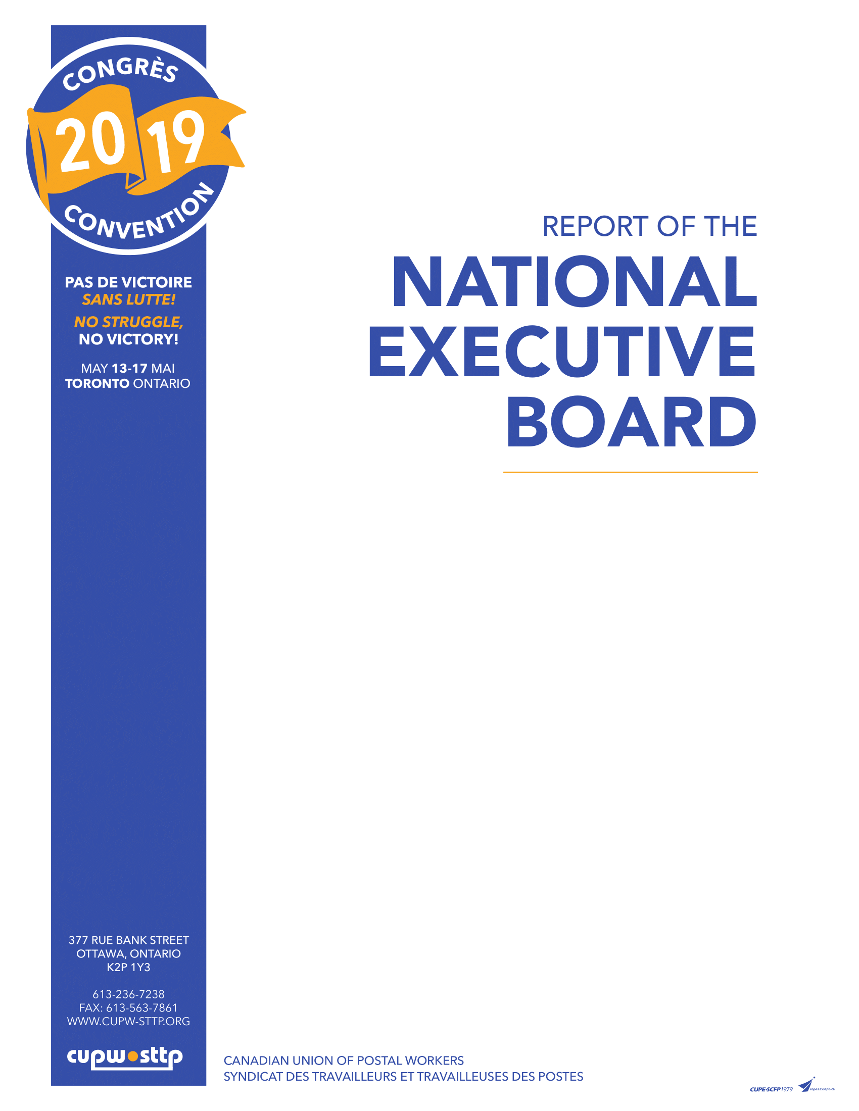 Report of the National Executive Board (2019)
