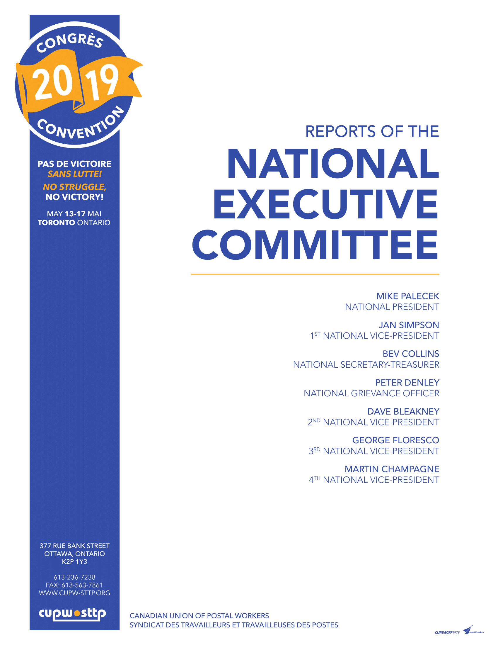 Reports of the members of the National Executive Committee (2019)