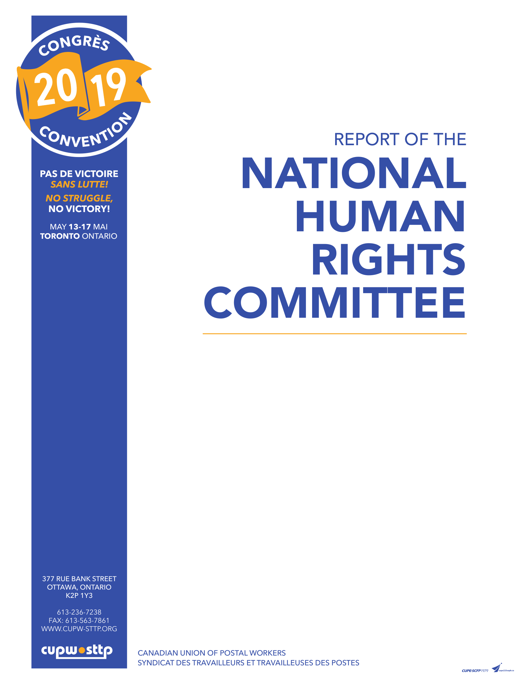 Report of the National Human Rights Committee (2019)