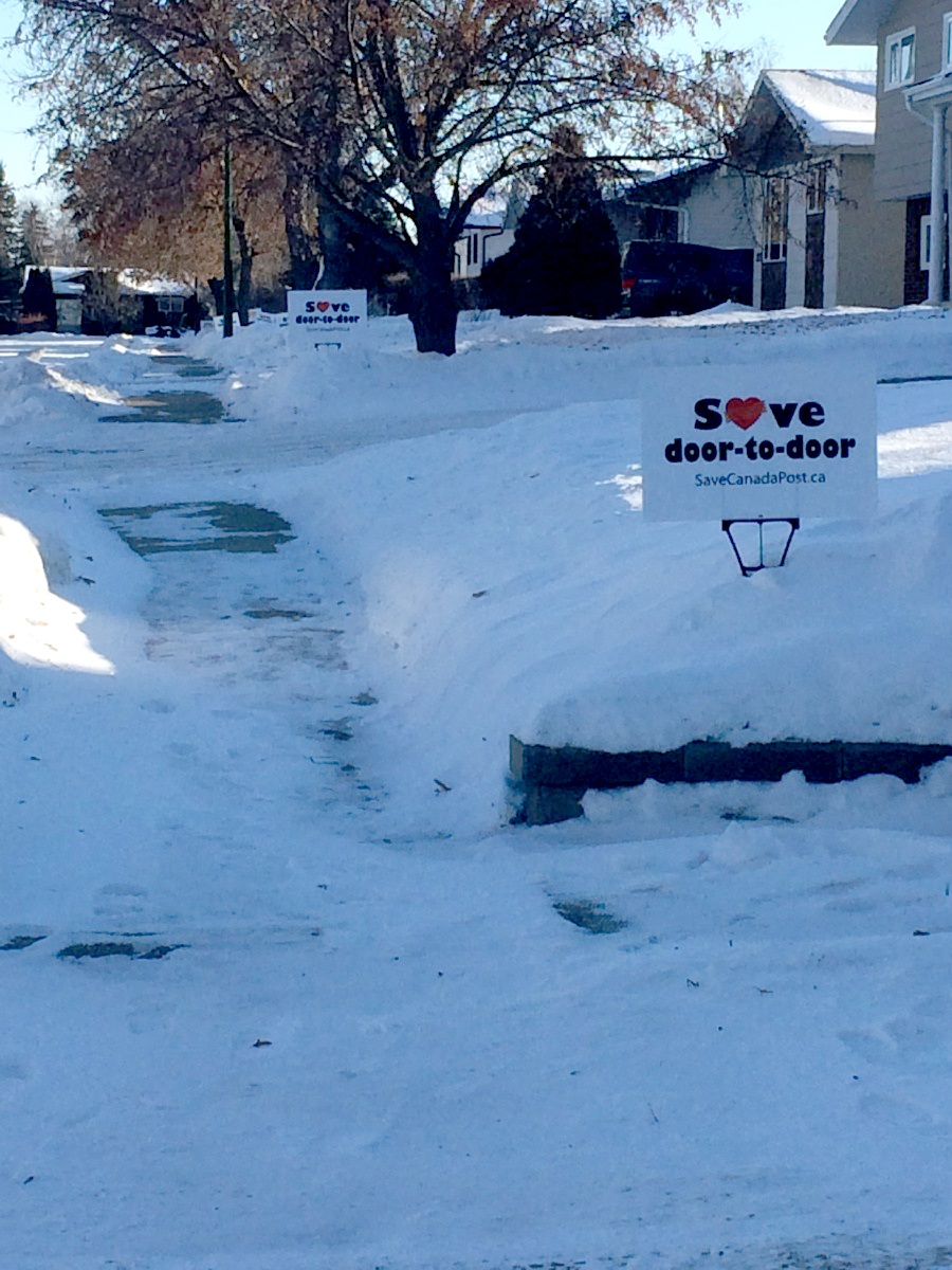 lawn signs in Prince Albert, SK