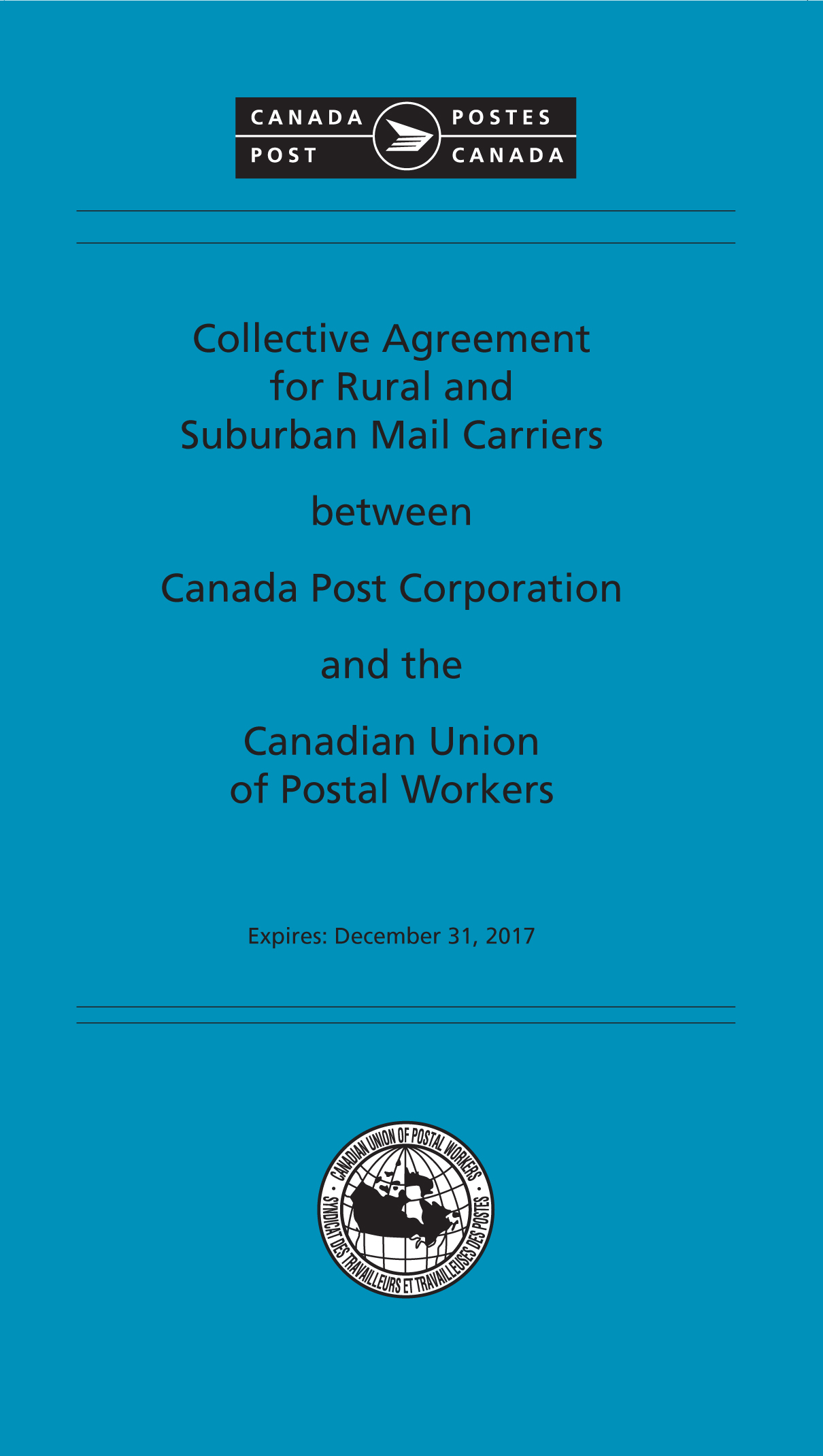 Rural and suburban mail carriers canadian union of postal workers collective agreement for rural and suburban mail carriers between canada post corporation and the canadian union madrichimfo Gallery