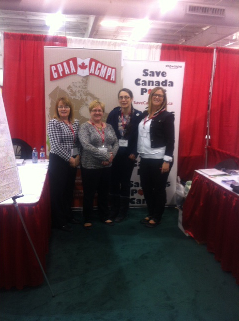 CUPW and CPAA at Saskatchewan Association of Rural Municipalities' annual convention