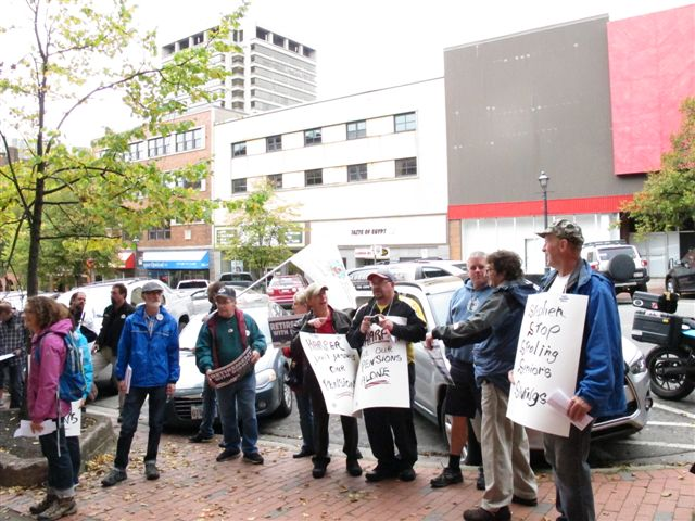 Retiree-organized pension demonstrations in Saint John