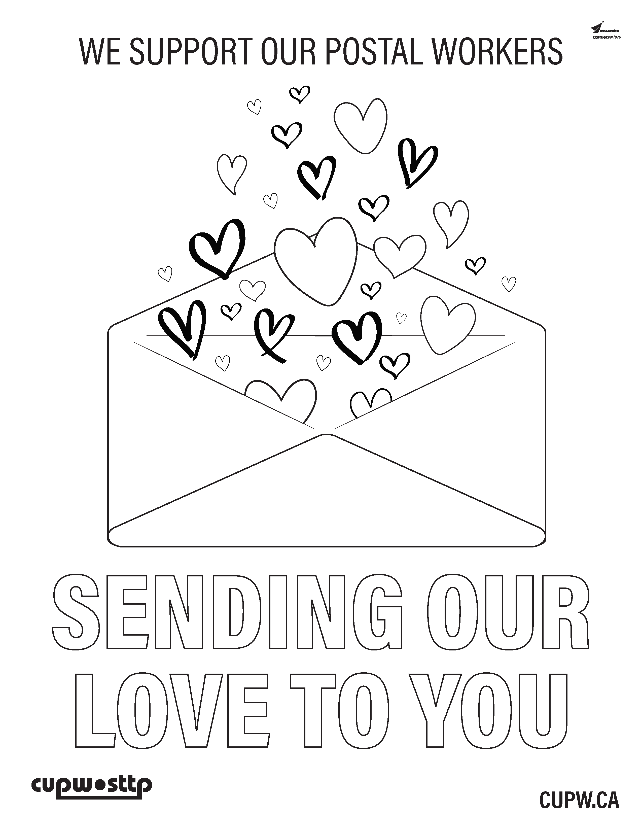 Show Some Love for Your Posties! Looking for something to do with the kiddos? We have just the thing! Download, print and have them colour this poster.