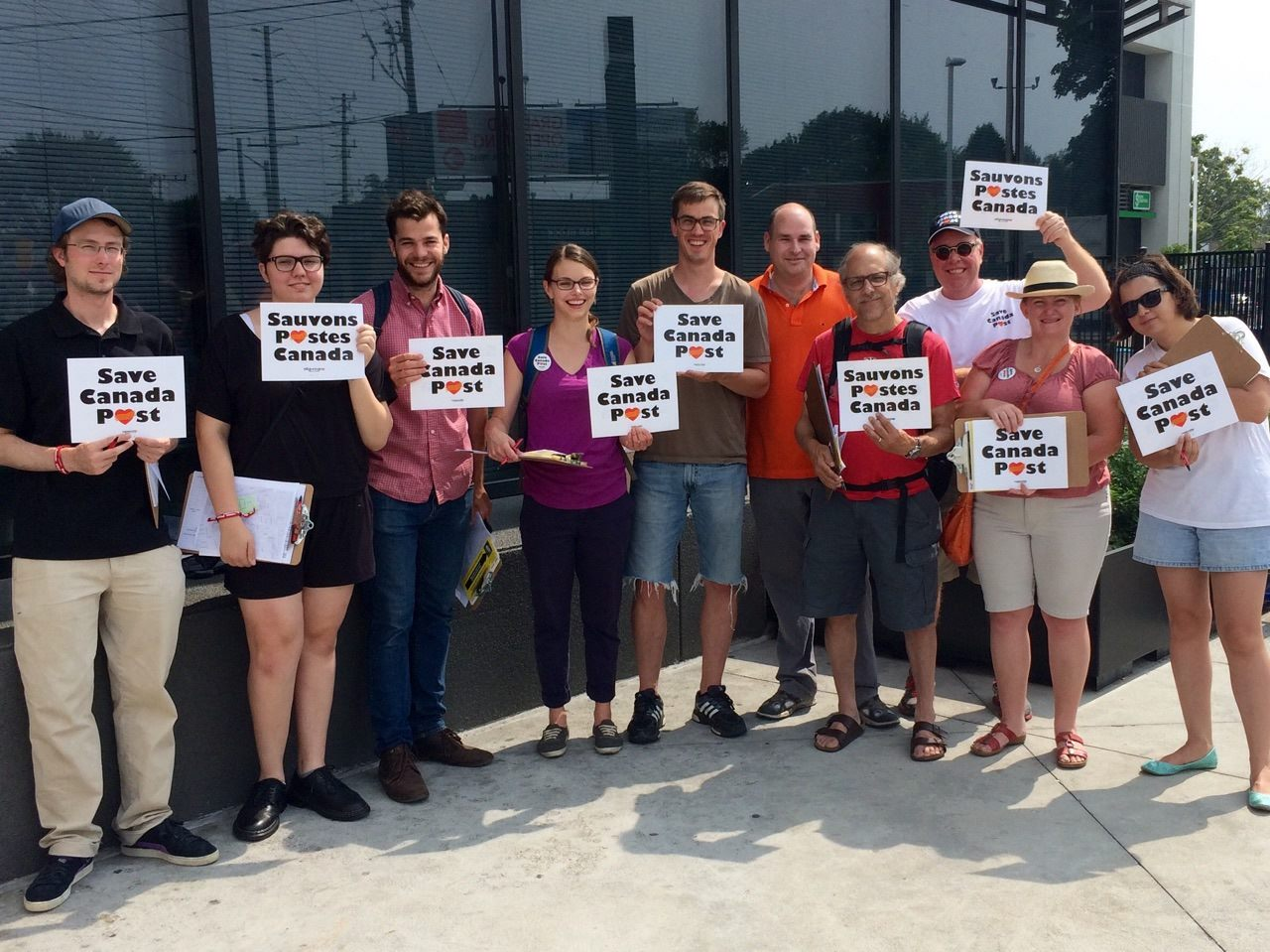 On July 11, members of the Toronto Local canvassed door-to-door