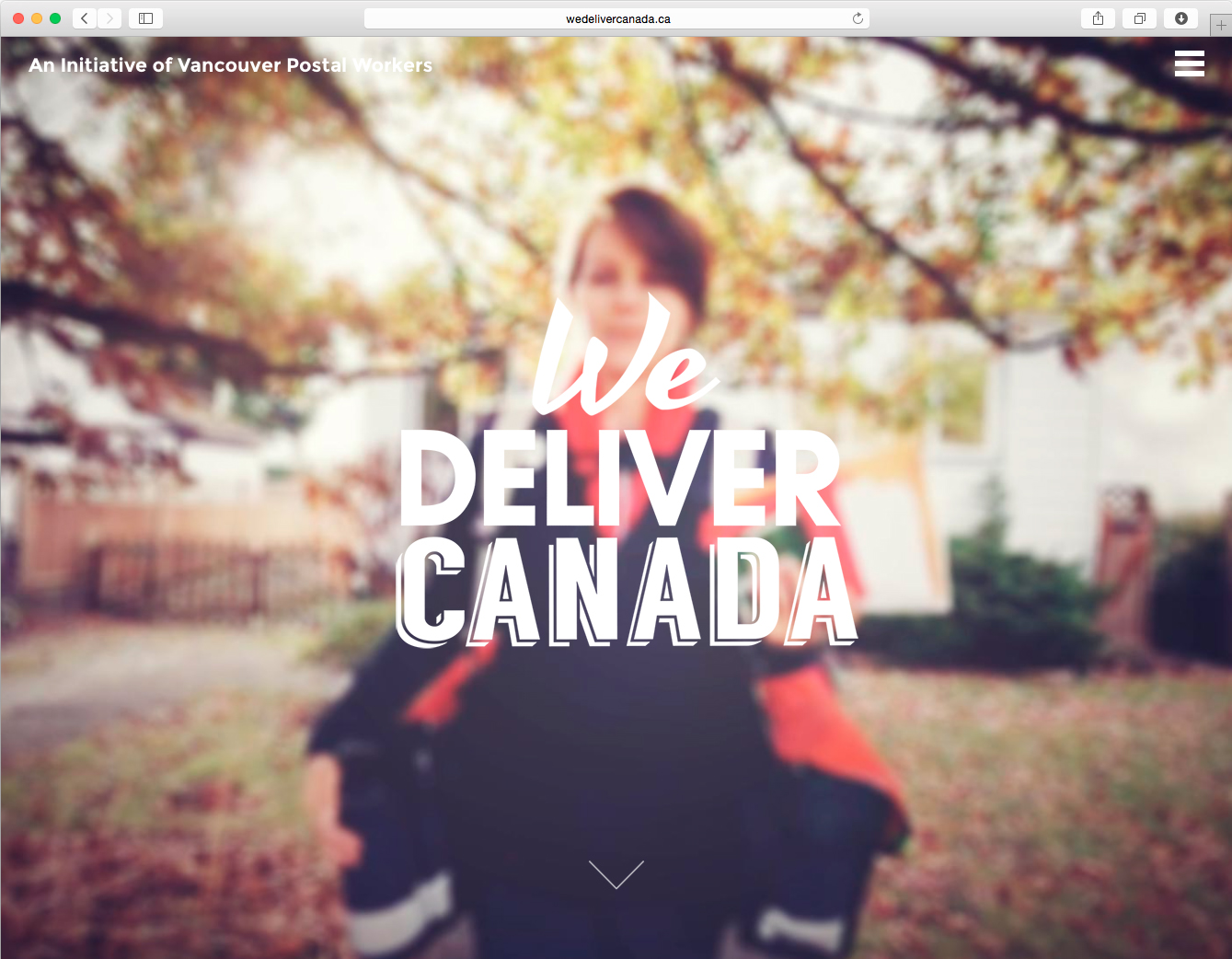 """We Deliver Canada"" homepage"