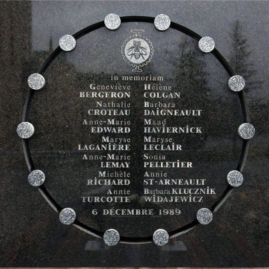 This year marks the 27th anniversary of          the murders of 14 women at École Polytechnique in Montréal, Québec.