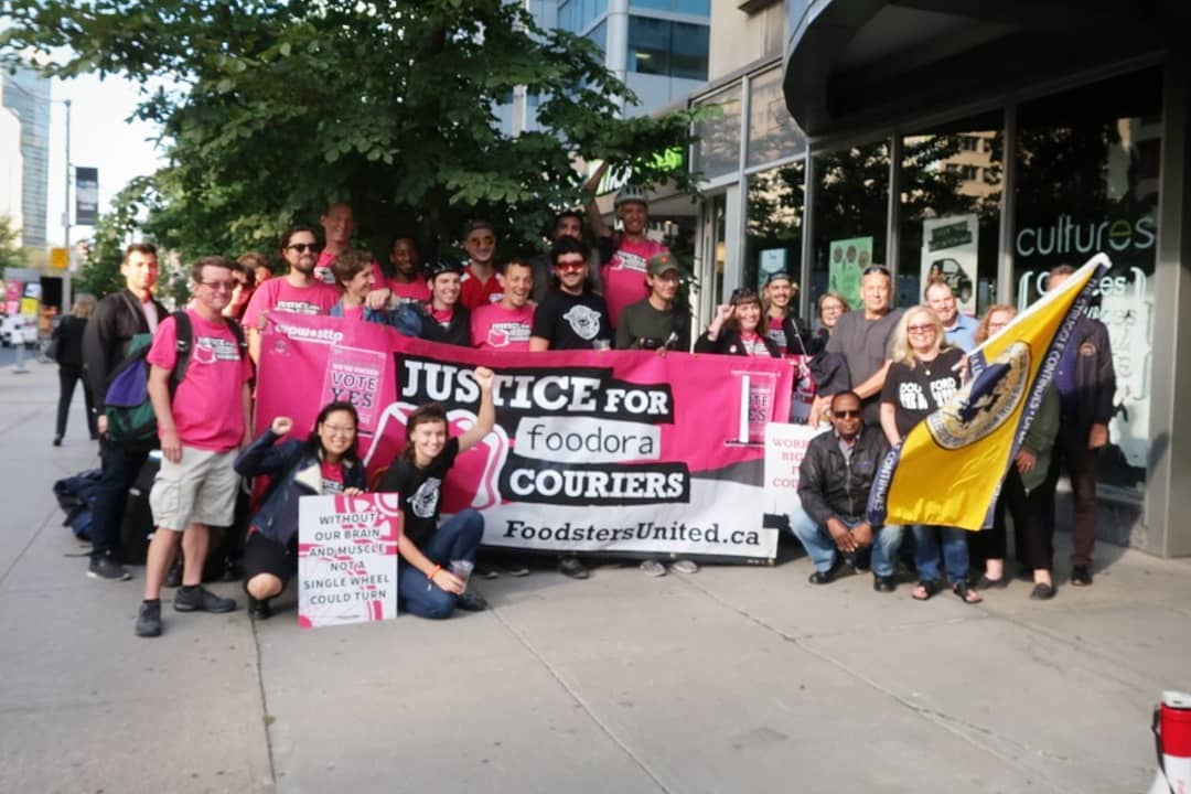 Photo: An update on the Justice for Foodora Couriers campaign