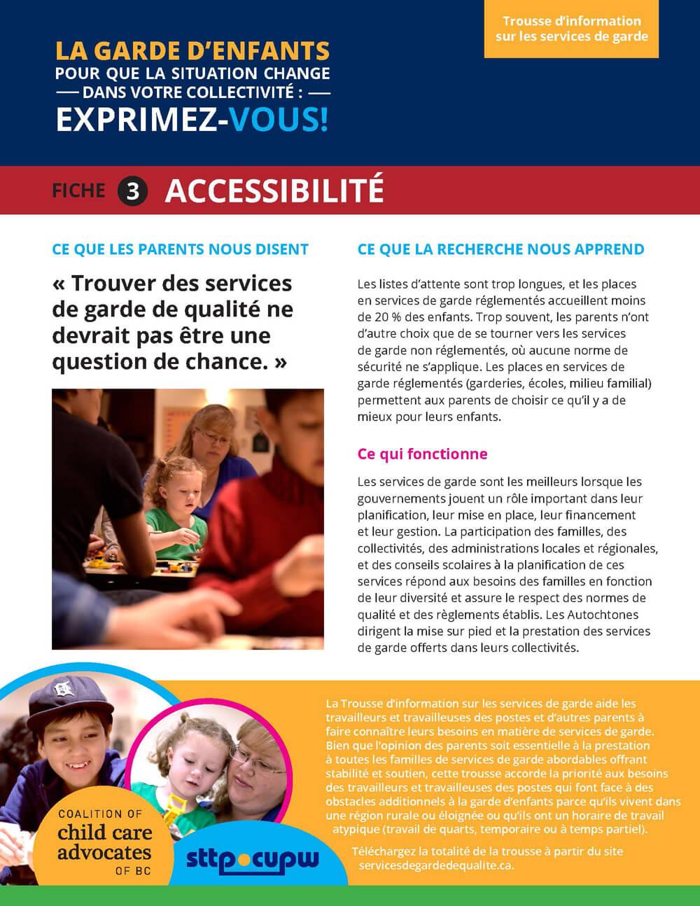 Fiche 3 : Accessibilité