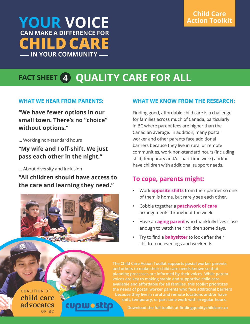 Fact Sheet 4: Quality Care for All