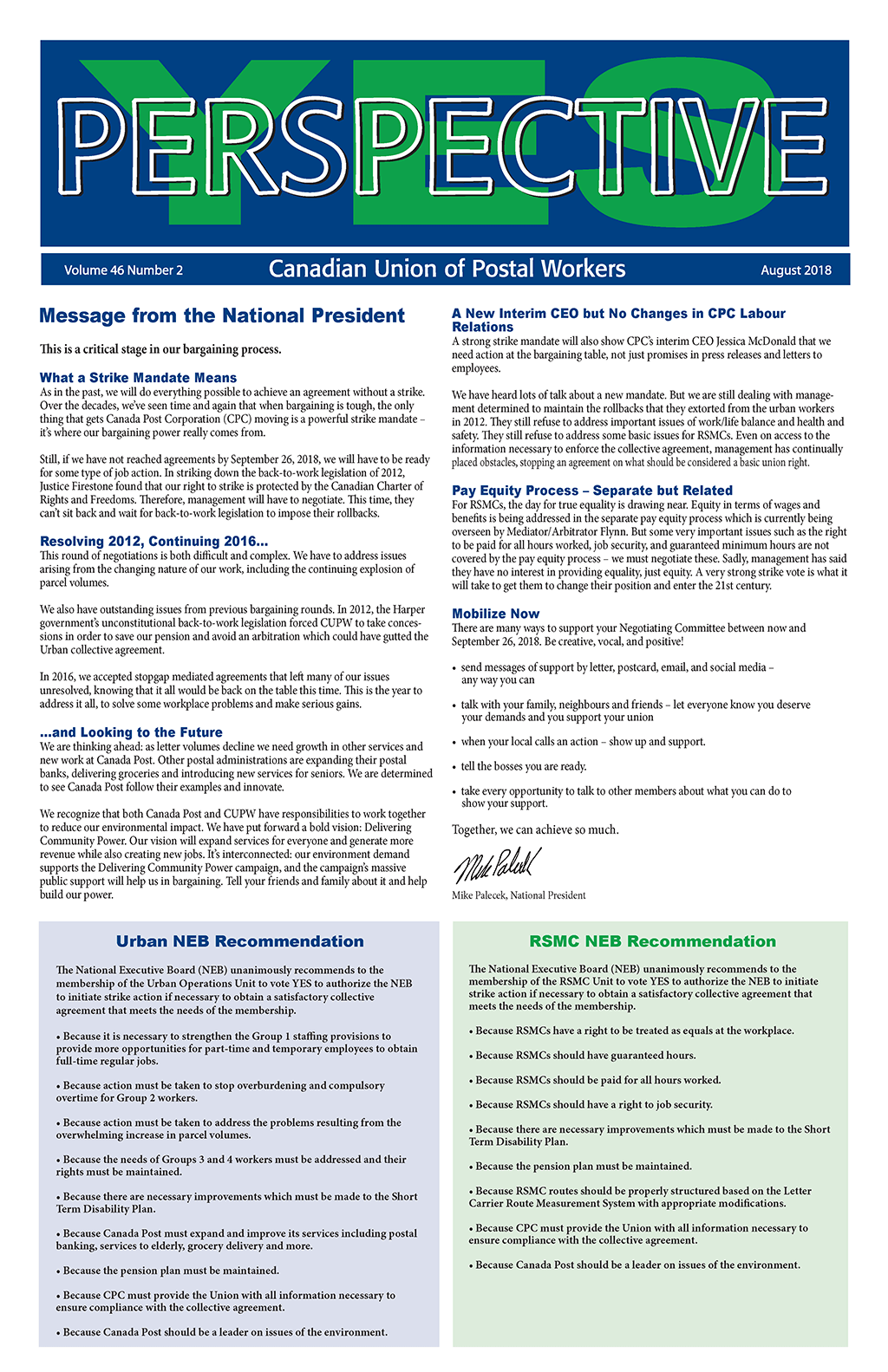 Urban and RSMC Strike Vote - 10 Reasons to Vote YES (Perspective)