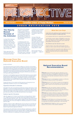 Urban Ratification Vote (Perspective – November 2012)