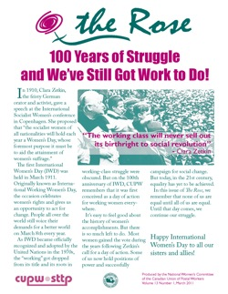 100 Years of Struggle and We've Still Got Work to Do! The Rose, March 2011