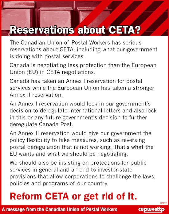 Reservations about CETA?