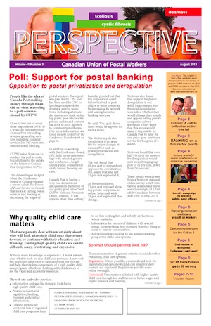 Support for postal banking - Opposition to postal privatization and deregulation (Perspective • August 2013)