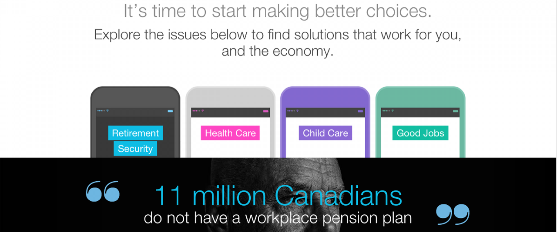It's time to start making better choices. Betterchoice.ca - Canadian Labour Congress