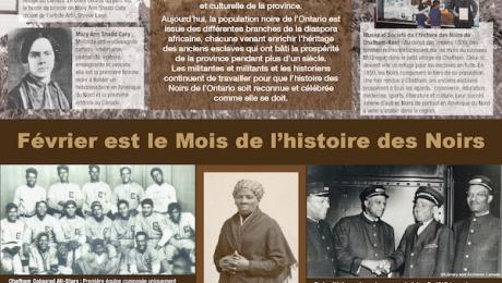 Affiche (2020) - Mois de l'histoire des Noirs :  informer et rendre hommage!