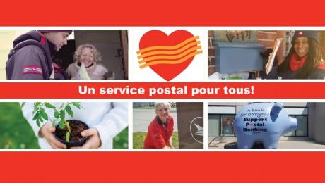 Le service postal fait l'objet d'un examen, et vous êtes invités à y contribuer.