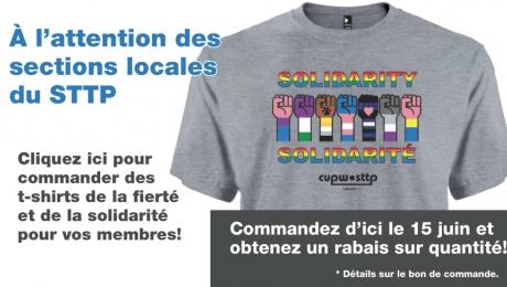 T-shirts Fierté et Solidarité