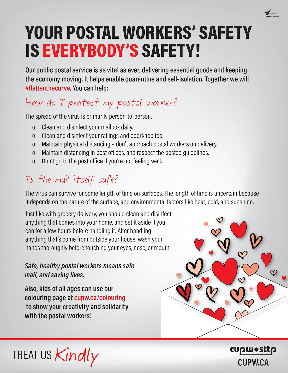 Image: Your Postal Workers' Safety Is Everybody's Safety!