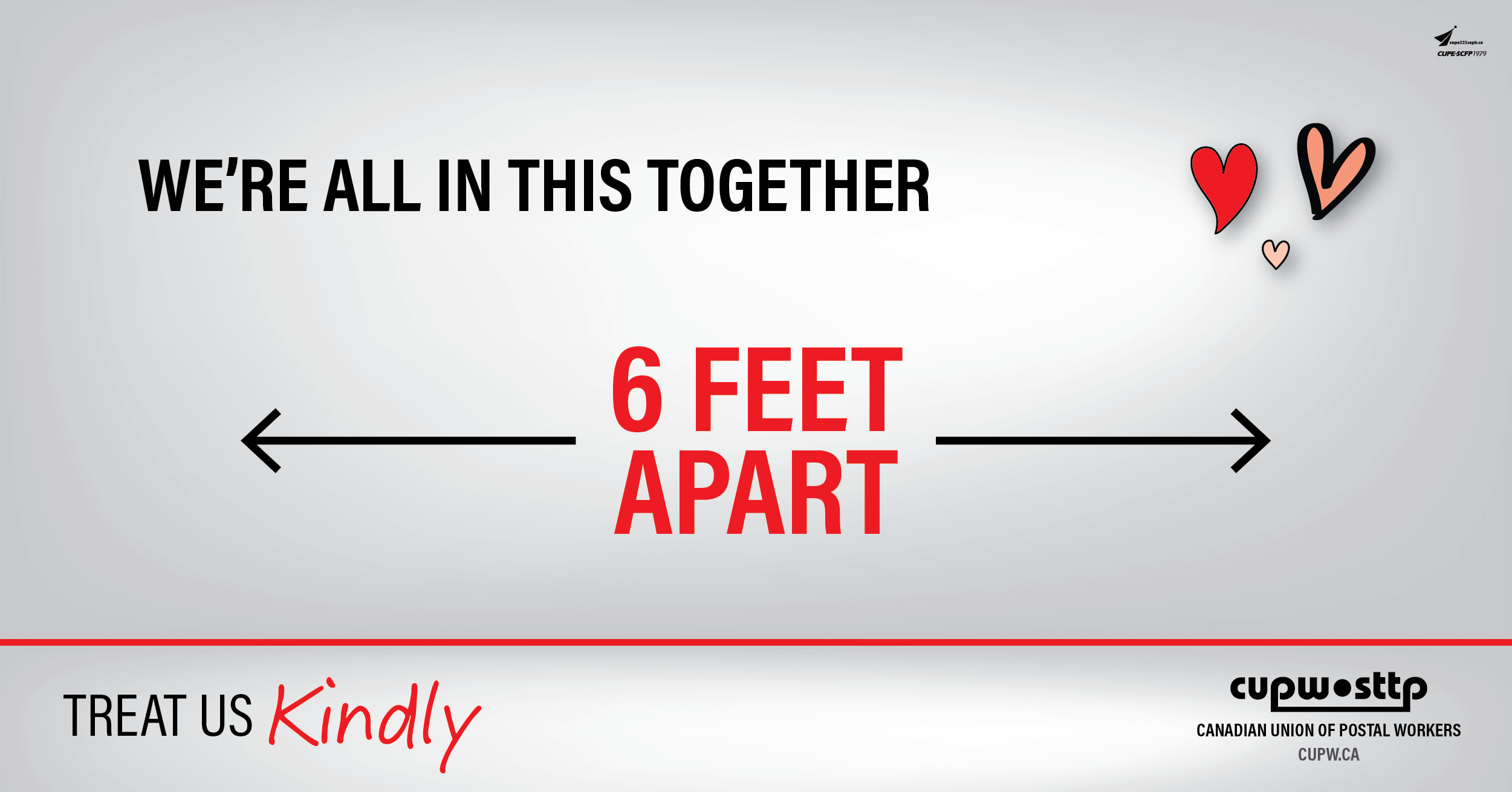 We're all in this together - 6 feet apart
